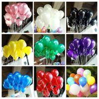 aufblasbare ballonversorgung großhandel-100 stücke Los 1,5g Aufblasbare Perle Latex Ballon für Hochzeitsdekorationen Luftballon Partei Liefert Alles Gute Zum Geburtstag