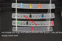 Wholesale Exhibition Cigarette - 2pcs free shipping USA 9mm 52 holes 3 tier E Cigarette Display Stand Detachable Exhibition Shelf For ecigs drip tip mouthpiece vapor shop