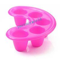 Wholesale Gel Nail Soak Off Trays - Rose Red and Black Nail Bubble Bath Spa Bowl Soak Off Tray Acrylic Gel Soaking Soak Bowl Tray Nail Art Tool