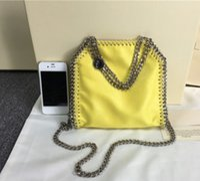 Wholesale Dropship Lady Bags - Dropship Mini 18cm falabella Shaggy Deer PVC luxury three chain hand-held crossbody shoulder bag fashion mini handbags