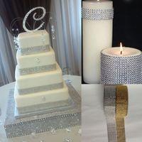 Wholesale Mesh Wrap Rolls - DIY Silver 1.5''*10 Yards 8 Row Diamond Mesh Wrap Roll Sparkle Rhinestone Trim Ribbon Gift Wrap Wedding Decor