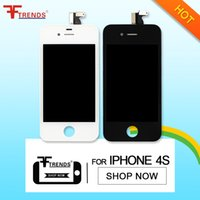 Para iPhone 4 4S LCD Display Touch Screen Digitizer Full Assembly preço barato 1pc Black White Free Ship