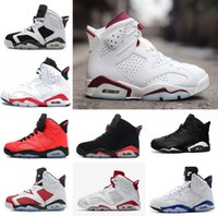 Wholesale Floor Borders - 2017 air retro 6 mens Basketball shoes Carmine Black Cat Infrared sports blue Maroon Olympic Alternate Hare Oreo Chrome Angry bull sneakers