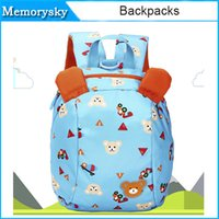Wholesale Small Shoulder Straps Wholesale - Lovely Anti-lost Small Bag Child Backpacks Cartoon Prevent Lost Strap Package Baby Boys Girls Bag Kids Pink Blue 010259