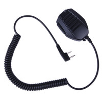 Wholesale Mic Baofeng Uv5r - 2 PIN Handheld Speaker Mic For Retevis KENWOOD BAOFENG UV5R H555 WOUXUN PUXING Radio J6372A cb radio yeasu MIC speaker