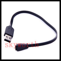 Wholesale Smart Power Cable - 27cm USB Power Charger Charging Charge Cable Cord for Fitbit Force Charge Wireless Wristband Bracelet Black