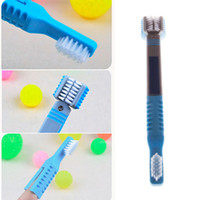 3in1 Pet Toothbrush Dog Gato Dental Grooming Lavar escova de dente Puppy Tooth Cleaning Tools Cuidados com os dentes Dog Cleaning Supplies 200pcs