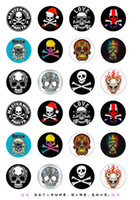 Wholesale Glass Skull Charm - NO.y-57 DIY Hot Sale Skull 18mm glass Snaps Button Glass Ginger Snap Button Fit Charm Bracelet Jewelry