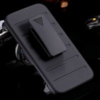Custodia I6 Plus Military Armor Heavy Duty Cover resistente agli urti per Iphone6 ​​Plus Hybrid Robusto Clip a cavalletto Clip Triple Full Case