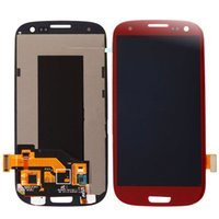 Wholesale Display S3 Red - High quality LCD with Digitizer Display Touch Screen Assembly Glass for Samsung Galaxy S3 i9300 i9305 i747 T999 i535,Red