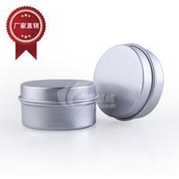 alüminyum kapak kavanozları toptan satış-Vida kapak ile 10g 20g alüminyum krem kavanoz kozmetik durumda kavanoz alüminyum teneke alüminyum dudak balsamı konteyner