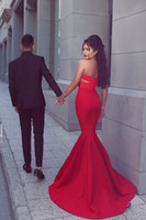 Wholesale cheap black abayas - 2016 Red Sexy Saudi Arabia Prom Dresses Cheap Araric Abaya Mermaid Prom Dress Party Gowns Vestidos Labera Party Dress Evening Gowns