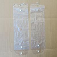 paquet de bande achat en gros de-Extensions de cheveux Paquet en plastique PVC Sacs Sacs d'emballage avec Pothhook 12-26inch pour l'emballage de trames de cheveux extensions de cheveux de bande Fermeture de bouton