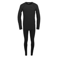 Wholesale Mens Thermal Winter Underwear - Wholesale-Top quality Winter Thermal Reflective Mens Long John Underwear Outdoor Sports sweat quick drying men clothing