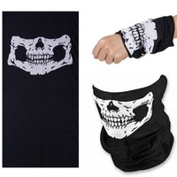 Wholesale Tube Scarf Cycling - Lightweight Sports & Casual Headwear Scarf Skull Face Tube Half Face Mask Windproof Magic Scarves for Cycling Hiking Camping