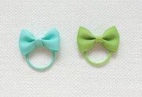 Wholesale Blue Green Baby Hair - 400pcs lot Free shipping blue green Mini manual hair bow string infant baby hair braids hair ring rope headdress flower