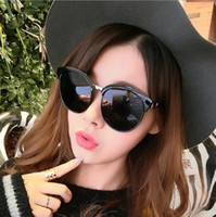 Wholesale Party Dress For Big Women - Sunglasses for women Fashion NEW girl sun glasses dress Party Casual UV400 PC plastic Retro drive travel Arrow big dark glasses Round