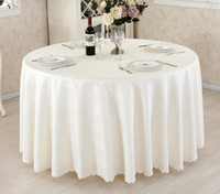Wholesale Polyester Table Cloth Round Satin Printed Cover for Banquet Wedding Party Decoration Supply cm High Quality