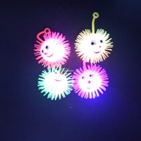 Flashing Light Up Prickly Hedgehog bola rebote Sensory Flash Tactile Fidget Crianças Birthday Party Cheer Itens