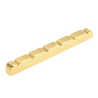 Wholesale Stratocaster Electric - 6 string slots Copper Guitar Bridge Nut for Fender Stratocaster Electric Guitar Replacement Guitar Parts & Accessories