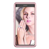 Wholesale nice phone cases - For Samsung Galaxy Note 8 Case,Nice Colorful Silicone 3 in 1 Hard Cover for Galaxy Note8 Bling Phone Cases Screen Protector Film