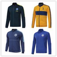 Wholesale Knit Striped Shirt - top thai quality 16 17 PSG jacket Training suit kits soccer Jersey 2016 DI MARIA CAVANI VERRATTI LUCAS PASTORE MATUIDI PSG football shirts