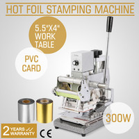 Wholesale Stamping Pvc - Brand New Tipper Embosser Hot Foil Stamping Machine For PVC Paper Credit Card With 2 Aluminum Foil Paper