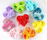 Wholesale Wholesales For Soap Gifts - Free FedEx shipping 480set lot 3pcs set Rose Flower Petal Soap Bath Petals Soaps Heart Good Smell 50sets lot for Wedding Gifts 160406#