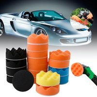 18Pcs 3CM Sponge Buff Buffing Polishing Pad Set M10 / M14 Thread Car Polisher Tools