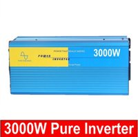 Wholesale Home Pure Power Inverter - Pure sine wave power inverter 12v 220v power 3000w 6000 watt Peak for home school office power supply Free Shipping