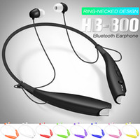 Wholesale Earphones Mic Retail Packaging - HB 800 Wireless Bluetooth Earphone Stereo Headset Sport Neckband Earbuds For HB800 Mic Headphone with Retail Package