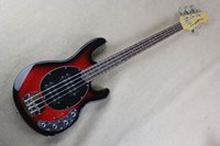 Wholesale Hollow Bass Guitars - Factory wholesale music man stingRay 4 strings red Electric bass guitar with 9V Battery active pickups