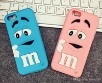 Pour Iphone6 ​​Case 3D Cartoon Cute Girl and Boy MM's Chocolat Candy Color Rainbow Bean Soft Housse en Silicone Case