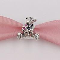 silber tiger armband großhandel-Authentische 925 Sterling Silber Perlen Tiger Charm Passt Europäische Pandora Style Schmuck Armbänder Halskette 792135EN80