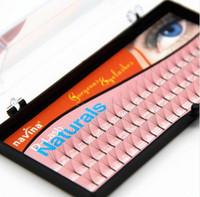Wholesale Individual Lash Kit Wholesale - 6 Roots 60 Natural Long Black Individual False Eyelashes Eye Lash Extension Kit Soft 12mm 10mm 8mm