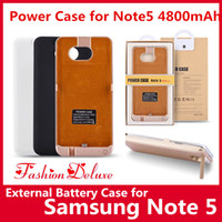 Wholesale Top External Battery Charger - Power Case for Samsung Note5 External Battery Case Portable Backup Charger Case 4800mAh Private Mold Top Quality Battery Cases for Note 5