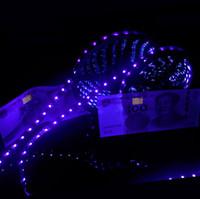 fita adesiva venda por atacado-Luz de tira conduzida roxa UV 5050 SMD 60led / m CC 12V Fita de tira impermeável UV 705-405nm Ray impermeável da fita