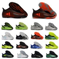 Wholesale Ic Sales - Hots Sale 2018 Mens Indoor Soccer Boots Original TECHFIT X Tango 17.3 IC TF Soccer Shoes 17+Purespeed TF IC Soccer Cleats