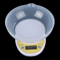 Wholesale Digital Scale Balance Bowl - 1kg  0.1g 1000g Portable LCD Digital Electronic Kitchen Scale Food Parcel Weighing Balance with Bowl wholesale H9605