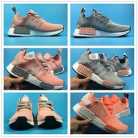 Wholesale womens pink tops - NMD R1 Vapour Pink Pack BY3059 BY3058 Womens Shoes Runner Top Quality Real Boost Wholesale Drop Shipping