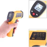 termómetro de contacto industrial al por mayor-DHL FREE Termómetro infrarrojo Temperatura Instrumento GM320 sin contacto Pantalla LCD digital con láser -50 ~ 330 grados con caja al por menor