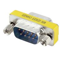 cabo adaptador rs 232 venda por atacado-Atacado- em estoque! 1 pcs 9 Pinos RS-232 DB9 Macho para Macho Serial Cable Gênero Changer Adaptador Acoplador promoção