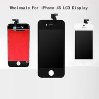 Wholesale Wholesale 4s - 10PCS Lot A+++ Front Screen LCD For Apple iPhone 4S LCD Display + Touch Screen Digitizer Assembly + Frame + Tools
