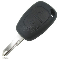 Wholesale key cover renault - New 2 Button Remote Car Key Cover FOB Shell Case For Opel Vivaro Movano Renault Traffic Kangoo For Nissan Free Shipping