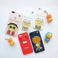 Wholesale Key Case Doll - New Fashion Painted cases Relief Cartoon Doll Case Holder TPU Phone Case Key Hanging For IP Pendant Phone Case