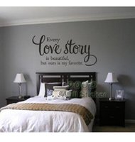 Love Story Quote Sticker mural, Diy Décoration intérieure décoration murale décoration murale, Dq 2014502