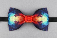 Wholesale Self Bow Ties - Original design hand stitched jacquard bow tie Wedding party self bow tie Pocket square set Men's gift