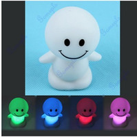 Wholesale Wholesale Cute Dolls - Wholesale- Cute Sunny Day Dolls Colors Changing LED Night Light Decoration Candle Lamp Nightlight great gift for kids