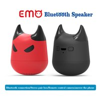 Emo Altavoz Bluetooth Mini Altavoces Inalámbricos Bluetooth 4.2 para Android IOS Windows Coche Uso del Teléfono Soporte de la Cámara de Música