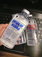 Wholesale Vodka Bottle Design - 3D Transparent ABSOLUT VODKA Case For iPhone5 5S 6 6S Plus 4.7 5.5 inch Wine Beer Bottle Design Soft TPU Phone Case Cover Free Shipping